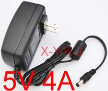 1PCS High quality 5V4A AC 100V-240V Converter Adapter DC 5V 4A 4000mA Power Supply US Plug 5.5mm x 2.1-2.5mm(China)