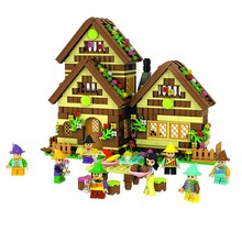 Winner 680pcs Building Blocks Fight Inserted Blocks Dream Girl Snow White Dwarfs Chalet 5005 Is Compatible With Legoe