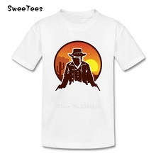 Red Dead Outlaw Boys Girls T Shirt 100% Cotton Short Sleeve Crew Neck Tshirt children's Clothing 2017 Popular T-shirt For Kids