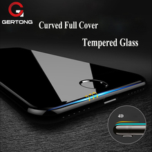 Buy GerTong Screen Protector iPhone 8 7 6 6S Plus X Tempered Glass Premium 4D Curved Edge Full Cover Toughened Protective Film for $2.84 in AliExpress store