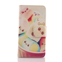 AIYINGE Cute Flip PU Leather Case Protection Cell Phone Skin Wallet Cover For Medion Life MD 99687 E5520 5.5''