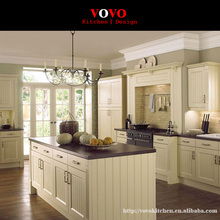 White oak solid wood kitchen cabinets with narrow strip on door