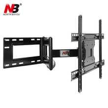 "NB SP2 Heavy Duty 40""-70"" Flat Panel LED LCD TV Wall Mount Full Motion Ultra Long Arm Swivel 180 Degree Wall Distance 110-712mm(China)"