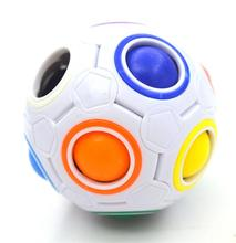 1pcs Fun Creative Spherical Magic Cube Speed Stress Cube Ball Puzzles Educational Learning Toys for Children Adult