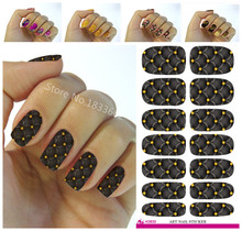 Fashionable small broken flower decoration nail decal art nail stickers decoration simple transfer foil k635(China)