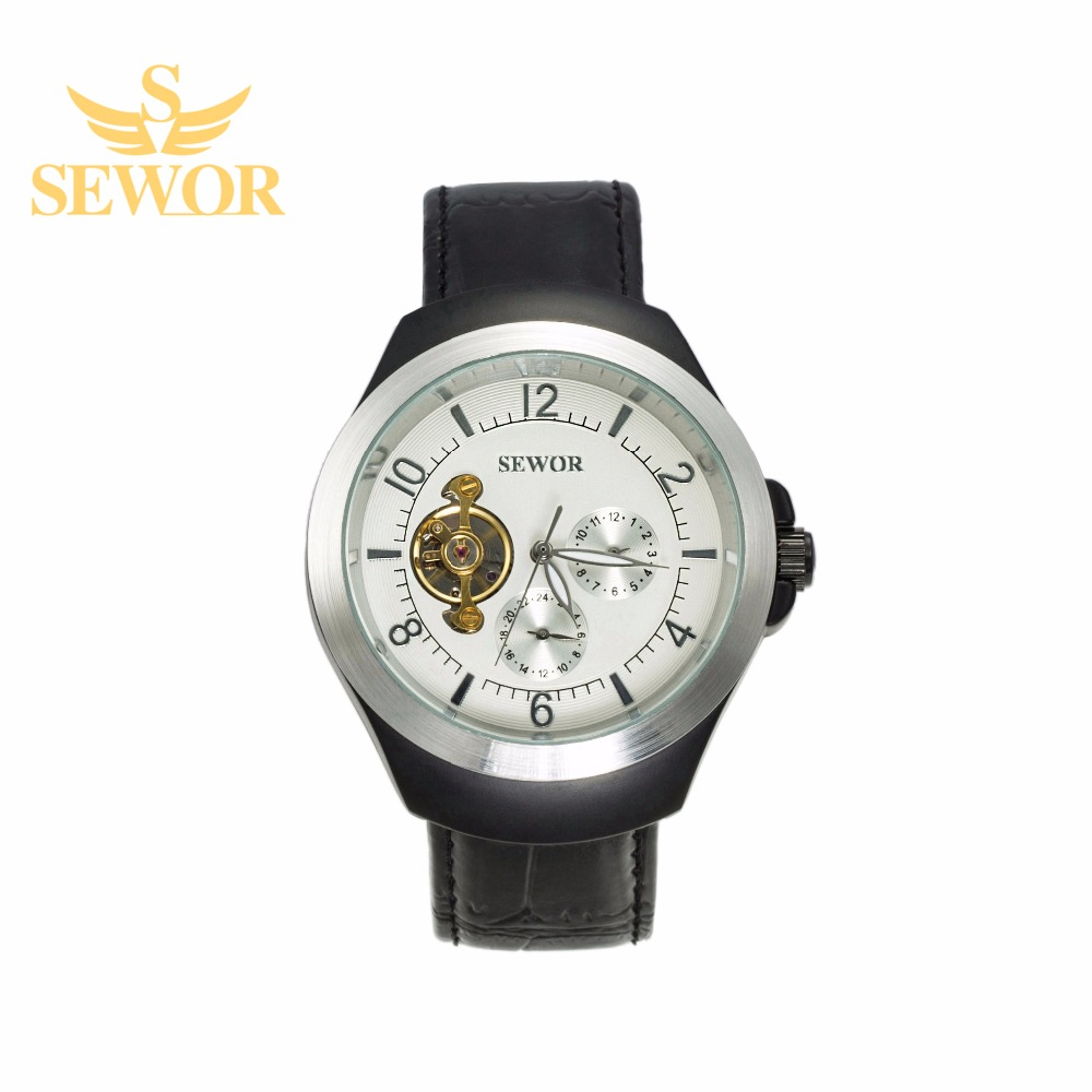 2017 SEWOR Top Brand Luxury Mens Mechanical Automatic Watch  White C312<br><br>Aliexpress