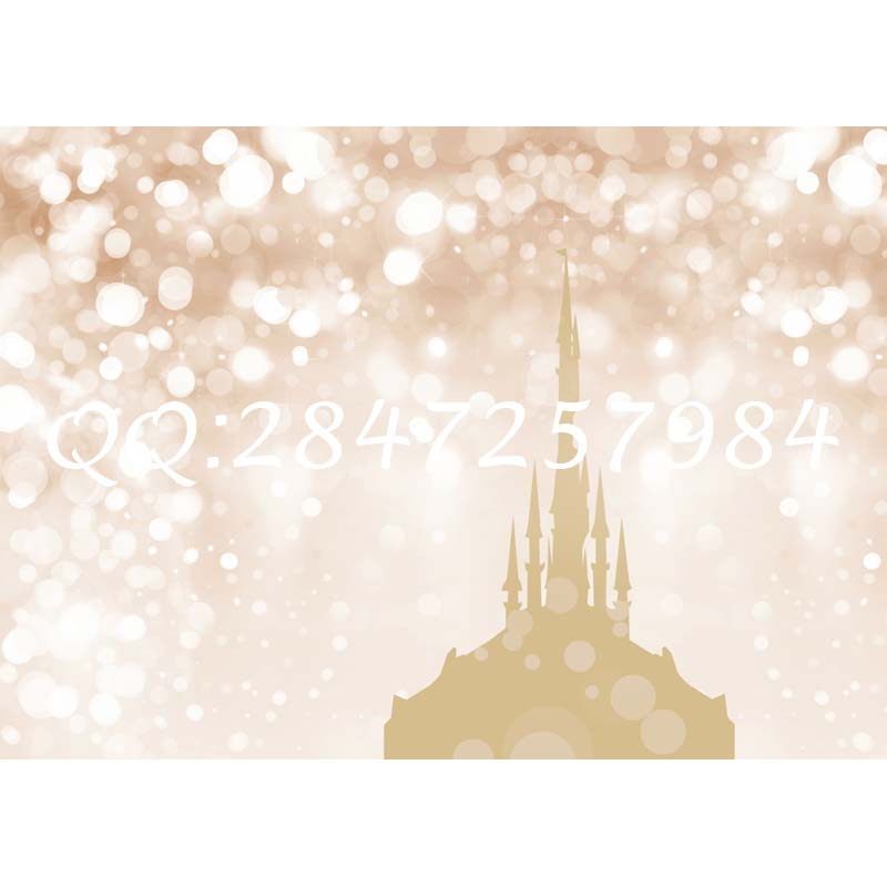 Thin fabric cloth printed photography background bokeh and castle backdrop  F-2504<br><br>Aliexpress