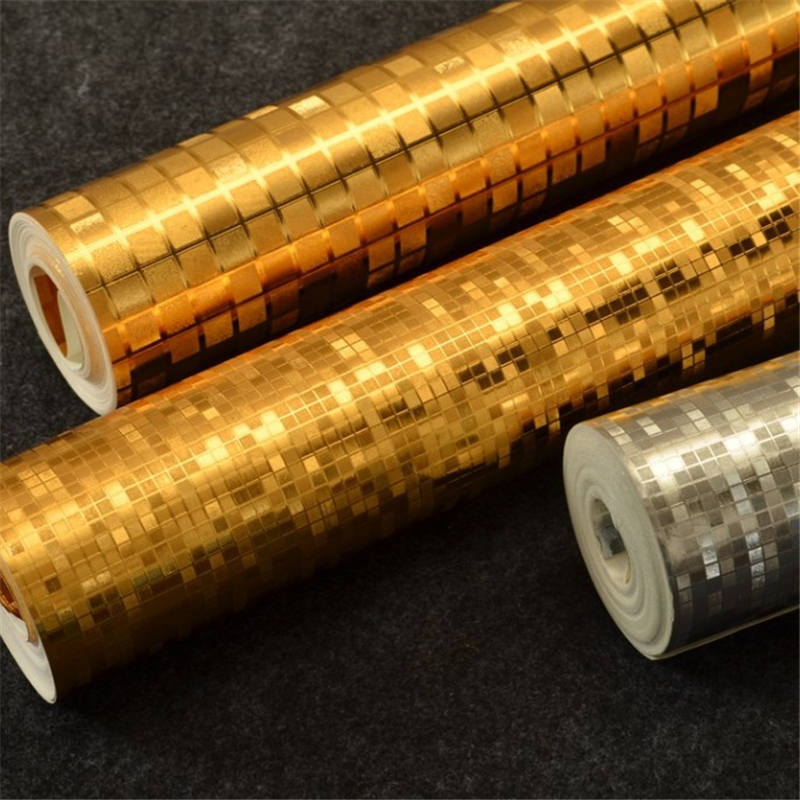 beibehang luxury gold foil mosaic wallpaper living room bedroom KTV ceiling lamp pool reflective wallpapers papel de pare<br>