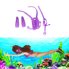 One Set Doll Diving equipment Accessories Plastic oxygen tank Swimming Glasses Feets For Barbie Doll Girl Birthday Best Gift