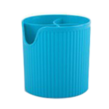Best Candy Colors Storage Tube Drainer Plastic Chopsticks Tube Cutlery Storage Box Kitchen Accessories (Blue)