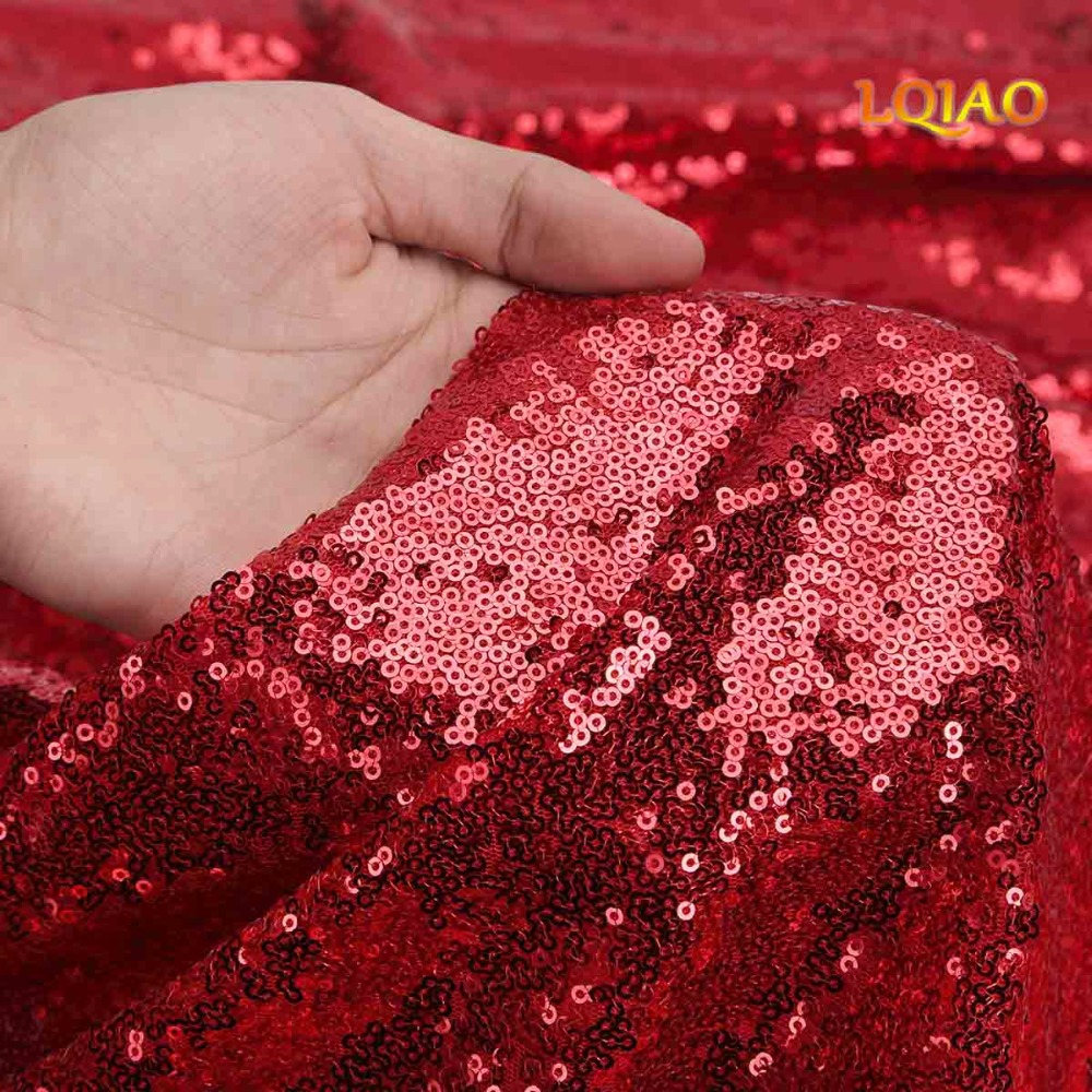Red sequin curtain backdrop-007