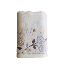 Easy to clean and will not fall colors Bathroom supplies Face Towel Cotton Roses Printed Towels Quick Absorbent Compressed Towel
