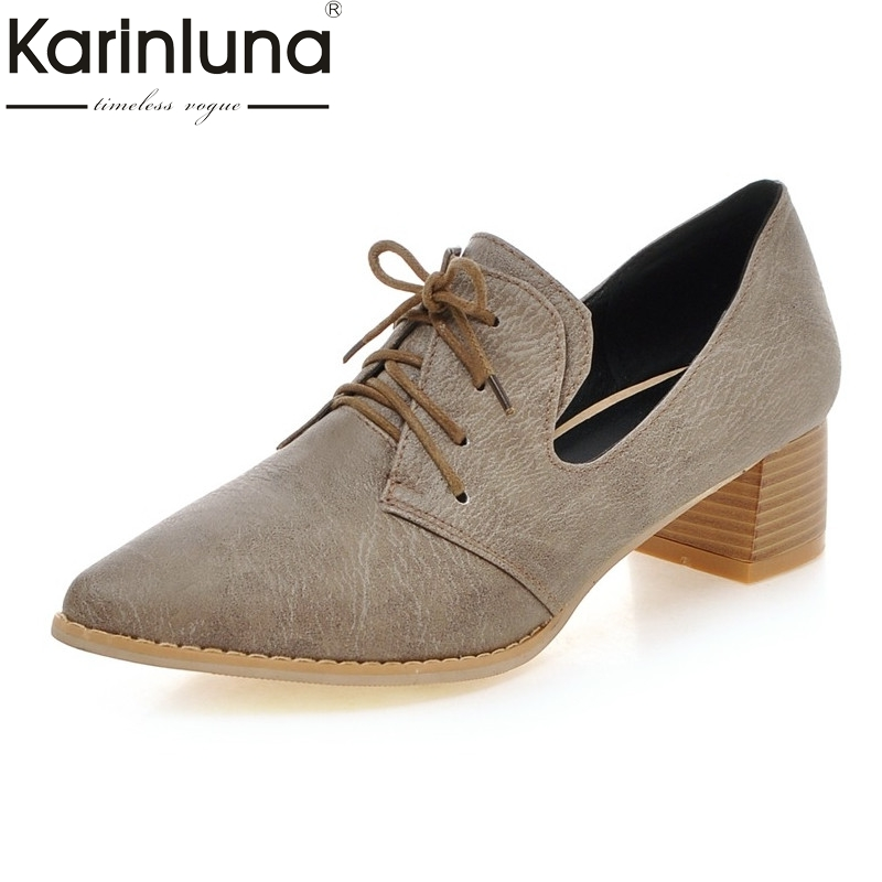 European Style Spring Women Pumps Big Size 34-43 Pointed Toe Nude Shoes Fashion Low Heels Casual Shoes<br>