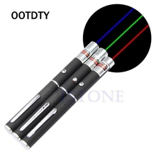 OOTDTY 5mw Powerful Laser Pointer Pen Beam Light 500-1000 Meter Presenter Remote Pointer 3 Colors Laser Verde Wave Length 405nm