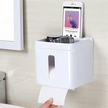 Белый многофункциональный для ванной держатель для туалетной бумаги место мобильного телефона Туалет Бумага диспенсер tissue box(China)