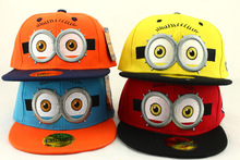 2017 Fashion Children Baseball Cap Cartoon Yellow Minions Snapback Hats Boy Girls Boys Cap Hip-Hop Hat Adjustable