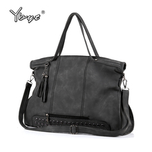 YBYT brand 2017 new casual large capacity tassel women handbag high quality ladies shopping bag shoulder messenger crossbody bag