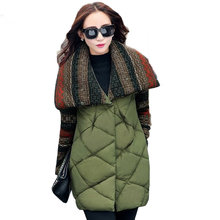 2017 New Woman Winter jacket parka 2017 Winter Jacket Women Overcoat Medium Casual Cotton-padded(China)