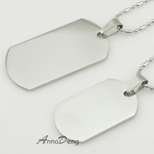 CHIMDOU Dog Tag Stainless Steel Pendant Necklace Military Soldiers metal stamping blanks Tags wholesale KJP08(China)