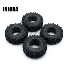 "4PCS 1.9"" Rubber Tyre / Wheel Tires for 1:10 RC Rock Crawler Axial SCX10 90046 Tamiya CC01 RC4WD D90 D110"