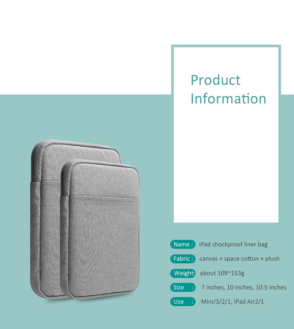 Cotton Shockproof 9.710 inch Tablet Sleeve Bag Cover Funda For New iPad 9.7 Pro9.7 Air 1 2 Protective Pouch Thick Case Shell (4)