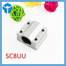 SC8UU SCS8UU 8mm Slide Unit Block Bearing Steel Linear Motion Ball Bearing Slide Bushing Shaft CNC Router DIY 3D PRINTER Parts(China)