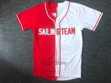 EJ Lil Yachty #44 Sailing Team Baseball Jersey Stiched Lil Boat Ikon Red White(China)