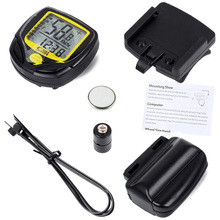 New Wireless Bike Computer,Waterproof Cycling Meter Odometer Speedometer With LCD Display,Cycling Computer Bike Stopwatch