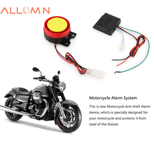 ALLOMN 12V Motorcycle Alarm System Lock Motorbike Anti Theft Horn Alarm Warner Security System with Remote Control(China)