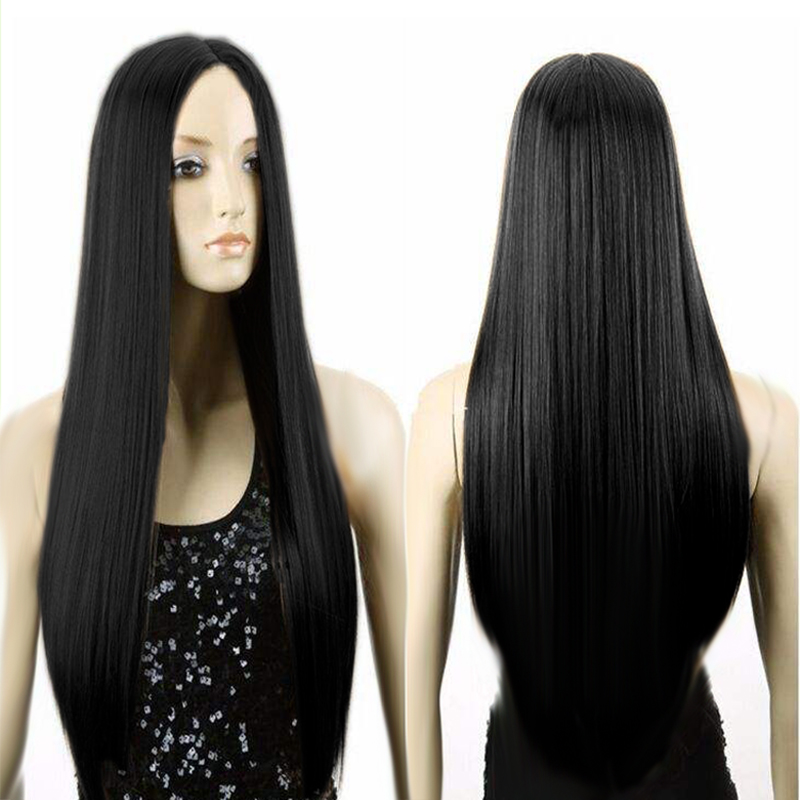 2017 new fashion Women long straight  Synthetic Hair  Cheap Wigs for Natural Black hair Cosplay women wig heat  Resistant hair <br><br>Aliexpress