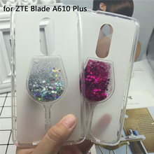Buy Glitter Quicksand Phone Cases ZTE Blade A610 Plus Case Bling Cute Srtars Cup Soft Silicon Back Cover 3D Capa Fundas for $3.71 in AliExpress store