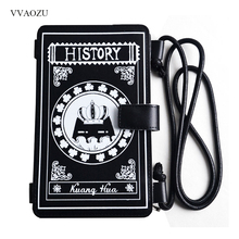 Vintage History Magic Book Handbag Women Harajuku Mini PU Messenger Bag Satchel Shoulder Bag Wallet Card Holder Phone Bags(China)