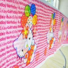 108cm*180cm Kitty Party Tablecloth Birthday Party Decoration Disposal Kids Boys Event Party Supplies Table Cloth Paw