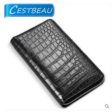 cestbeau French import high end area crocodile leather men wallet men belly wallet men clutch bag(China)