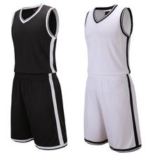 Cheap Basketball Uniforms Sportswear Training Sets Clothes Sleeveless Throwback Breathable