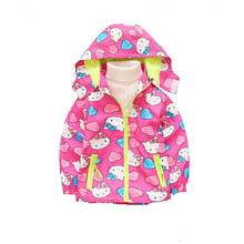 2017 spring autumn baby girl clothing children girl Hoodies outerwear coat jackets hello kitty character Sweatshirts for girl(China)