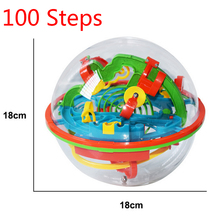 New 100 Steps Small Big Size 3D Labyrinth Magical Rolling Globe Balls Marble Puzzle Cubes Brain Teaser Game Sphere Maze ball