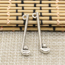 10pcs Charms golf club ball 32*8mm Tibetan Silver Plated Pendants Antique Jewelry Making DIY Handmade Craft(China)