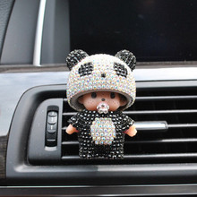 Car Perfume Czech Diamond Fashion Panda Shape Fragrance Car Vent Air Freshener Outlet Diffuser