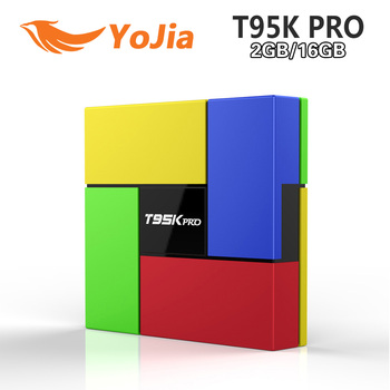 [Genuine] T95K PRO 2GB 16GB Amlogic S912 Octa Core Andorid 6.0 TV BOX 2.4G/5GHz Dual WiFi BT4.0 KODI Fully Load 4K H.265 VP9 HDR