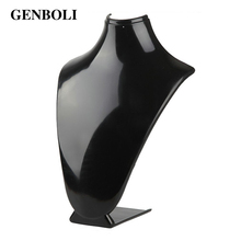 GENBOLI Acrylic Material Necklace Display Stand Useful Women Desktop Jewelry Stand Chain Holder Organizer Display Rack