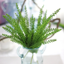 1PC Cheap Artificial Green Wheat Plant Artificial Flower Wedding Flower Artificiais For Party Table Home Decoration Accessories(China)