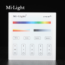 Milight B4 4-Zone RGB RGBW RGBW+CCT Smart Panel Remote Controller for led strip light lamp or bulb(China)