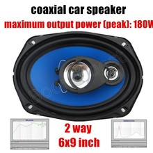 one pair 6x9 inch 2 way coaxial car speaker car audio stereo speaker 2x180W best selling high quality for all cars(China)