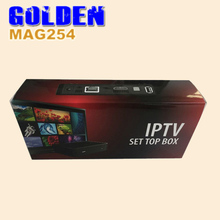 1PC mag254 ITALY smart box Mag 254 Multimedia Player Internet Tv Box Iptv Set Top box Usb wifi Hdtv Mag254 FASTER than mag250