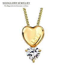 Neoglory Champagne Gold Color Rhinestone Long Chain Necklaces&Pendants For Women 2017 New Brand Gifts H1