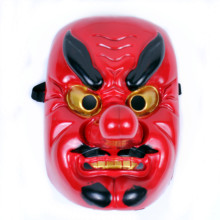 New Japanese Tengu Cosplay Mask Omen Noh Kabuki Samurai Demon Halloween Party Mask