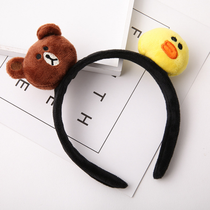 kids baby infant child girls and Mom Cute little rabbit bear headwrap hair bands Small yellow duck elastic ribbon headband Accessories (8)