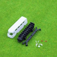 4pcs Model Cars Unpainted  Buses 1:75 OO Scale Railway Layout Model Kits NEW BS15002  railway modeling