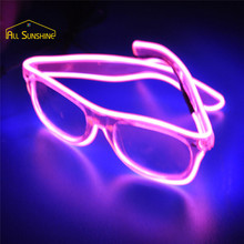 LED EL Glasses Light Up Illuminated Neon Glasses Costume Party Pub Clubs Decoration Halloween Festivals Supplies Random Color